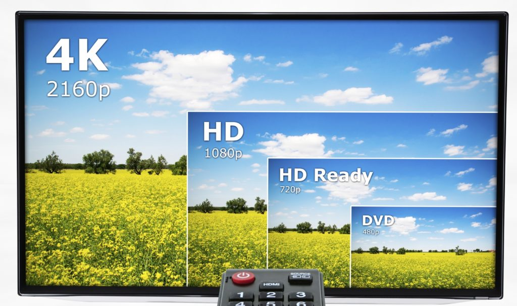 4k tv resolution comparison