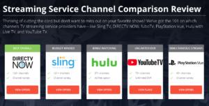 Sling Vs Directv Now Vs Ps Vue Vs Hulu Tv Channel Comparison
