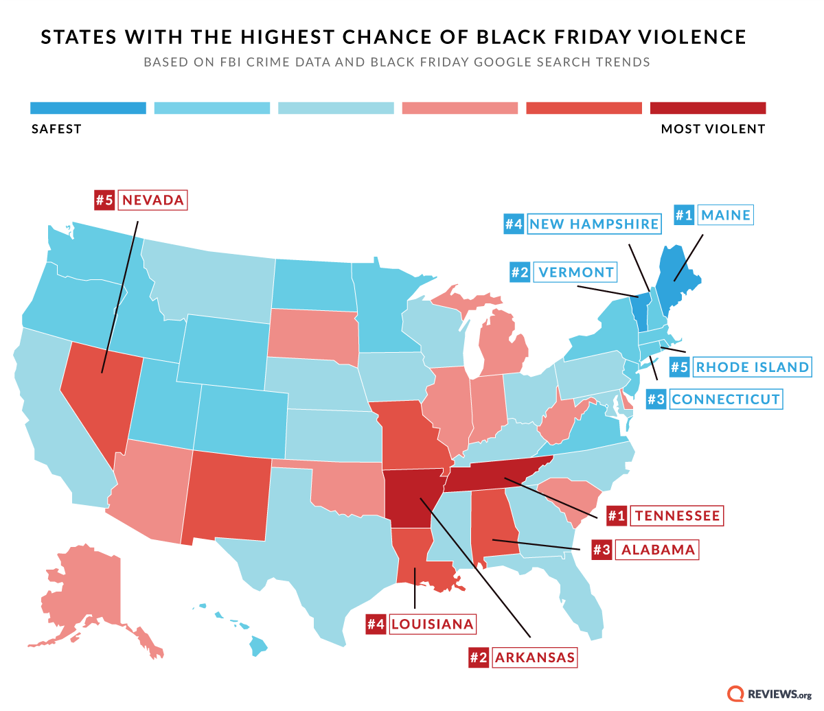 These States Are At High Risk For Black Friday Violence