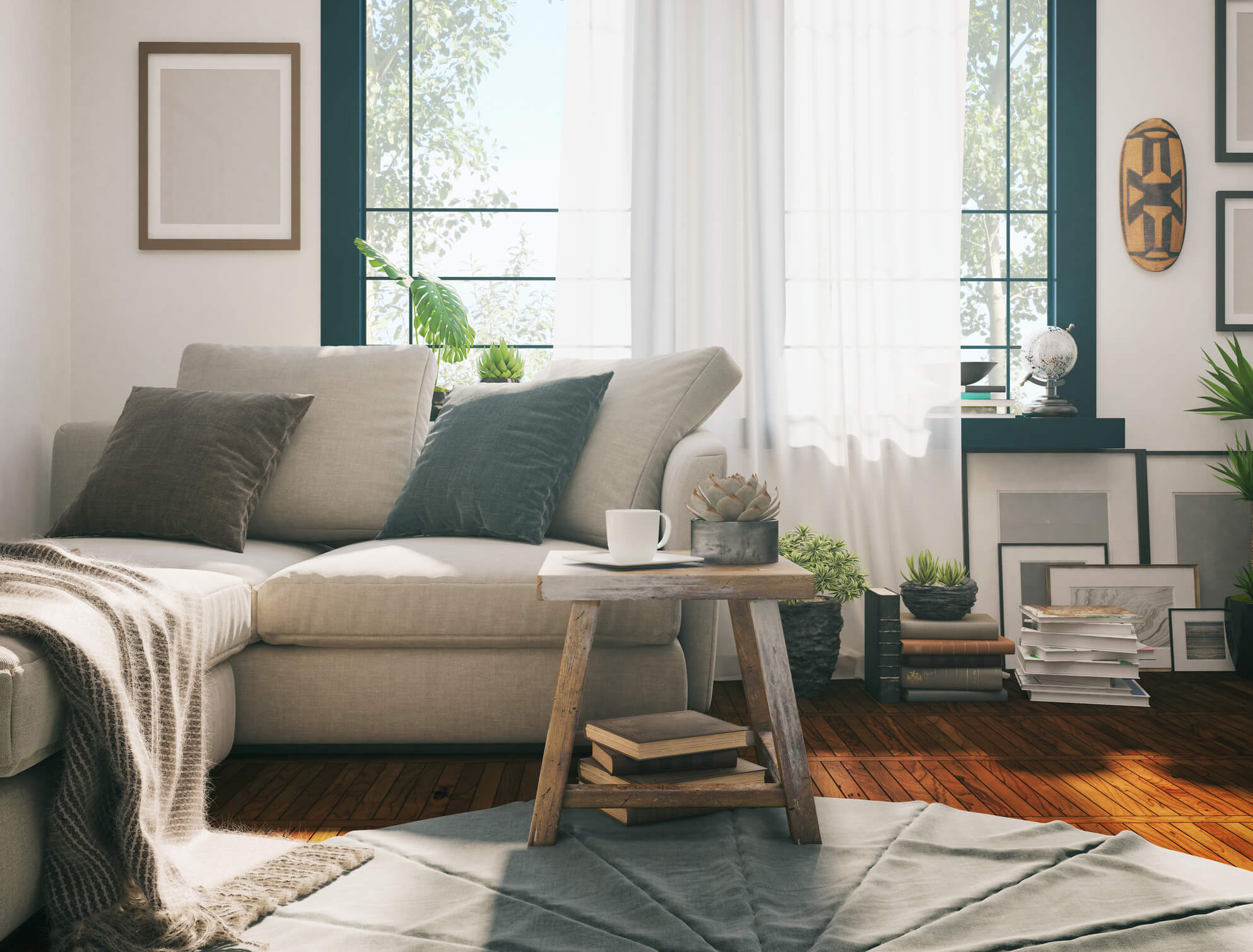 Living room fit for a smart hub