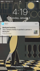 nest outdoor cam notification screenshot