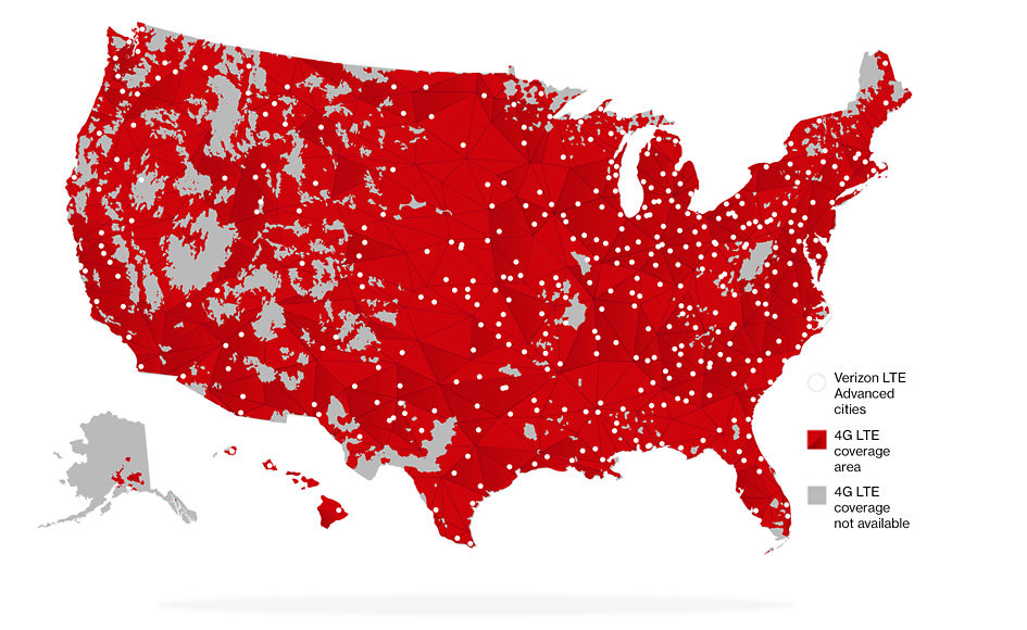 Cell Service Map Best Cell Phone Coverage 2019   Too much service is never a bad thing