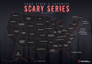 Your State's Favorite Scary Netflix Series Map
