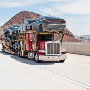 Car transporter shipping cars