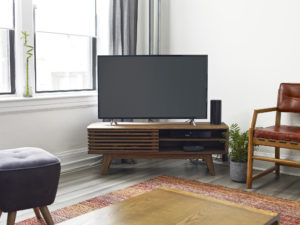Modern home with tv unit