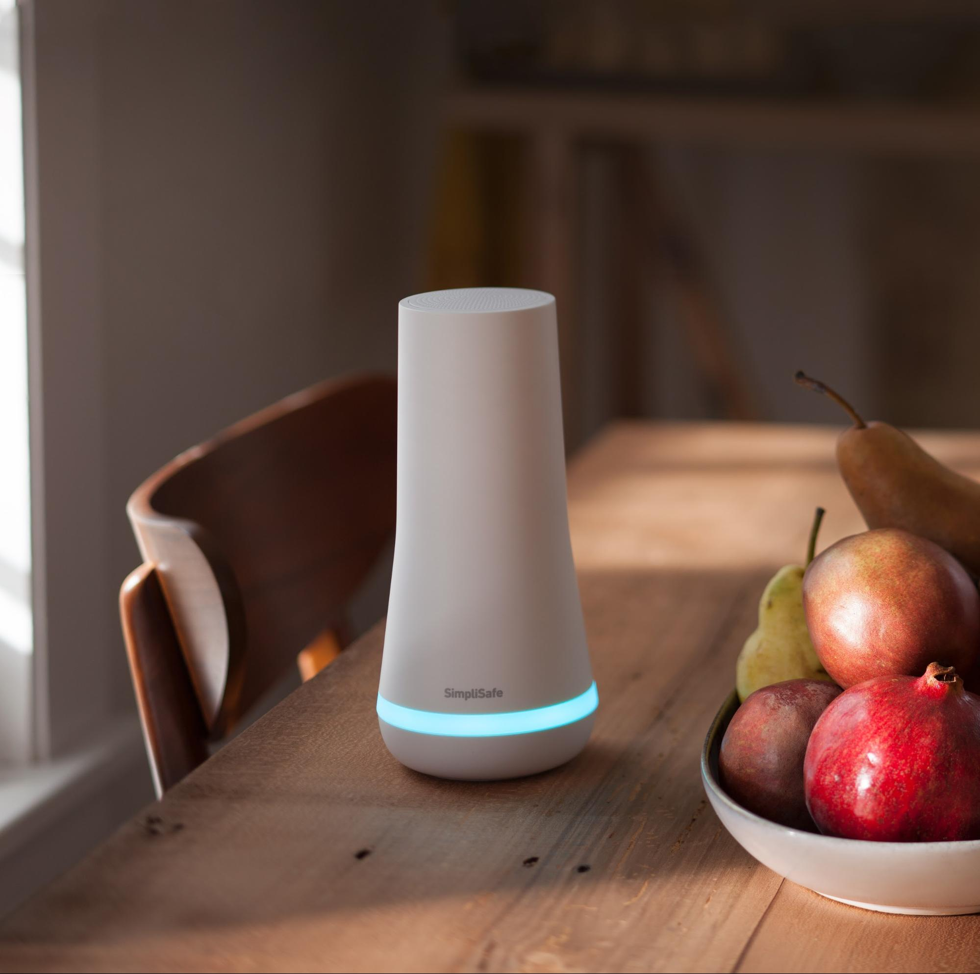 Simplisafe base station on dining room table