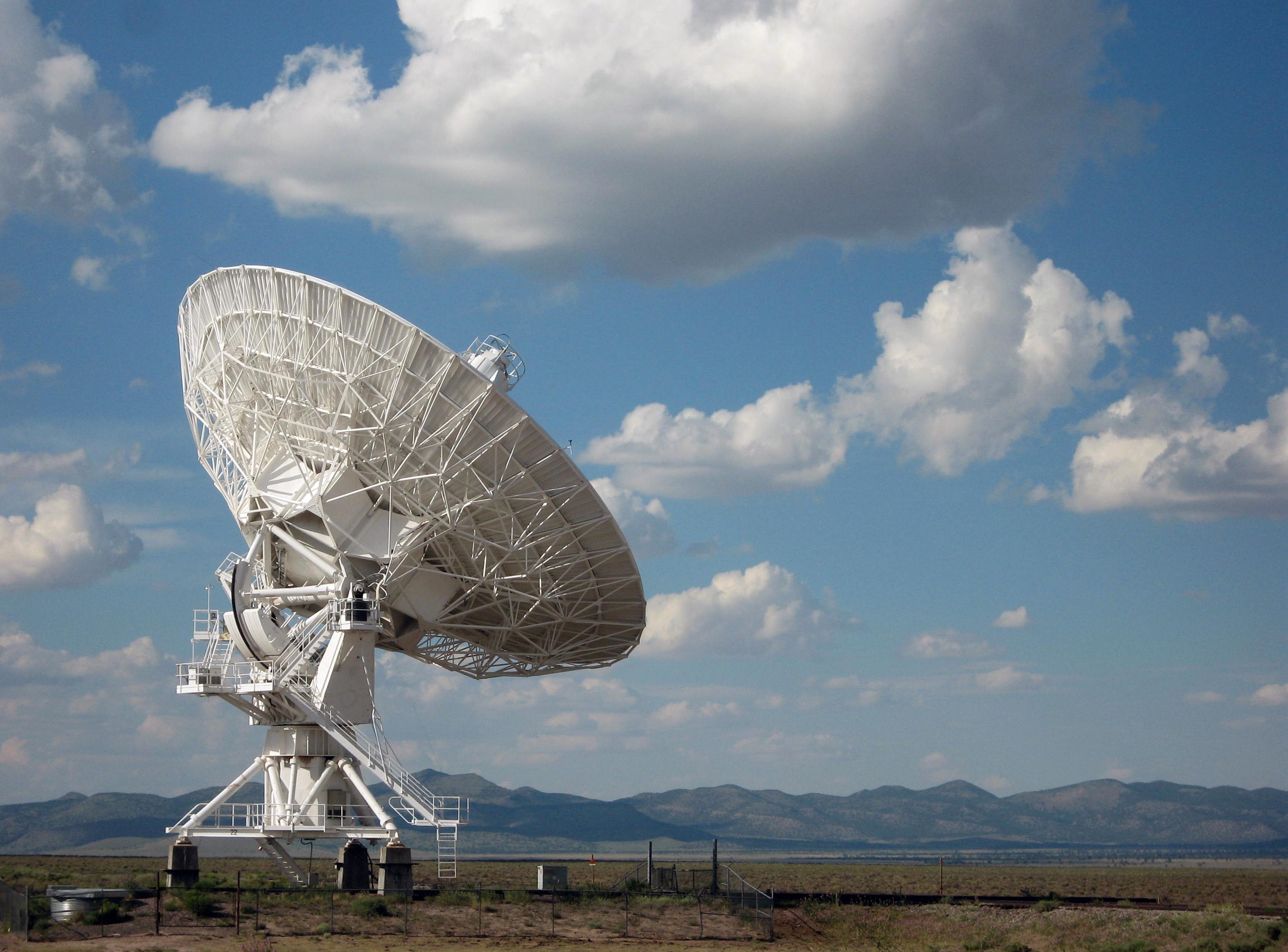 Massive satellite dish in the desert