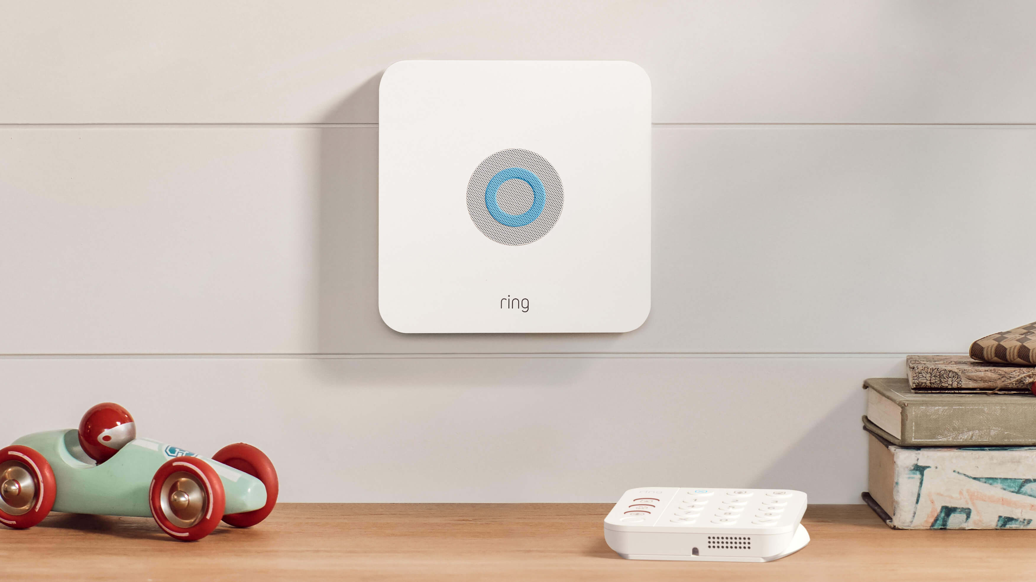Ring Alarm base station in home