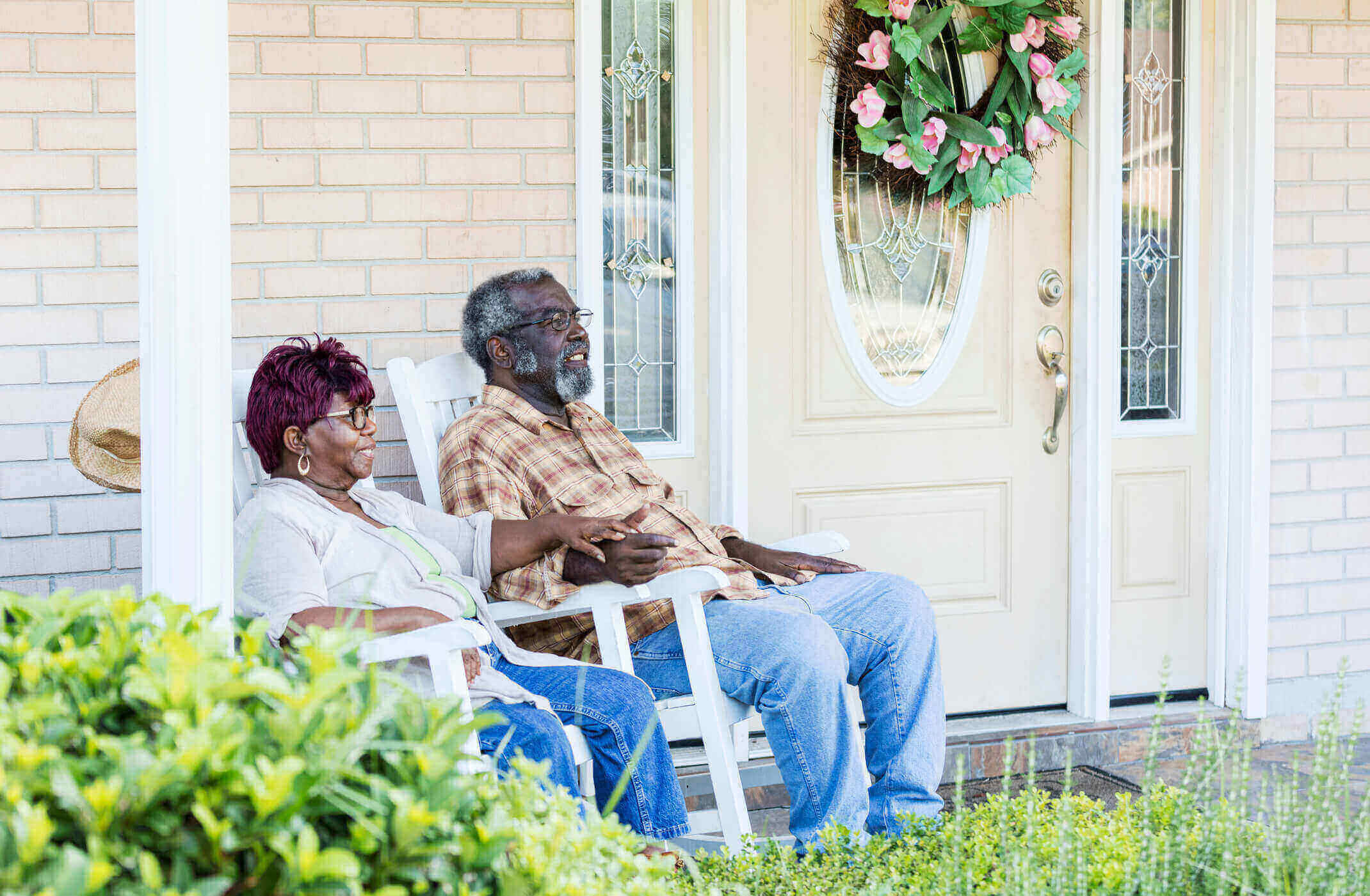 Older couple on front porch