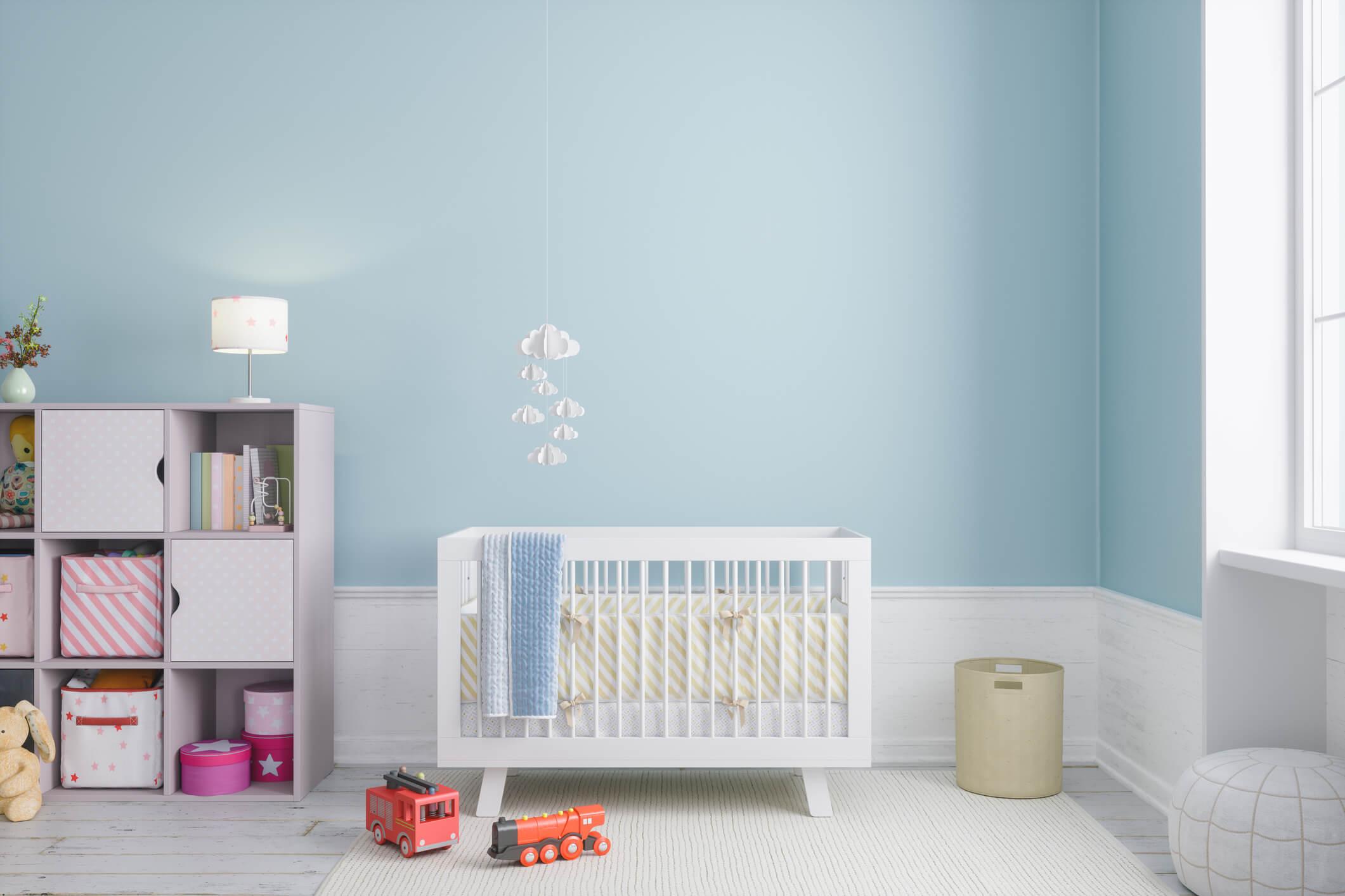 Modern baby room interior