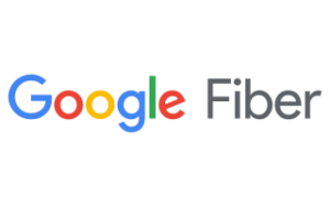 The Google Fiber logo shows Google in blue, red, yellow, and green letters with Fiber in dark gray