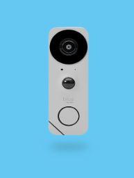 Blue doorbell camera