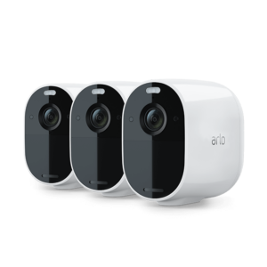 Three-pack of Arlo Essential cameras