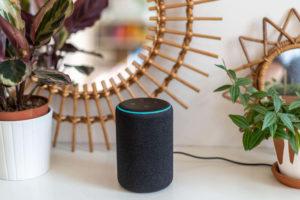 Amazon Echo original in a stylish house