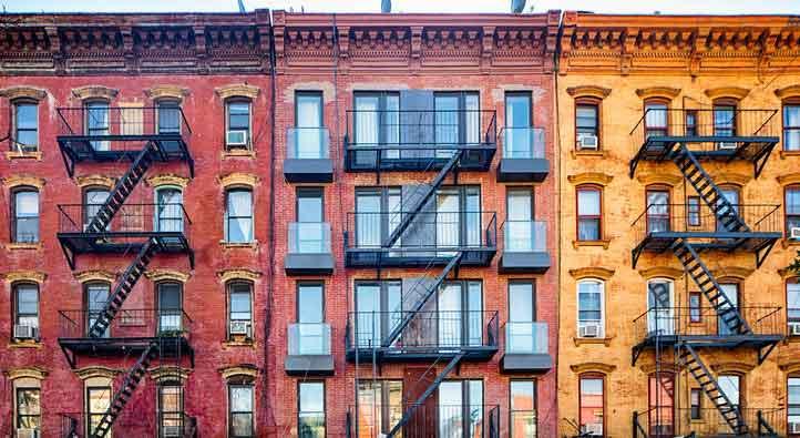 Colorful apartment buildings