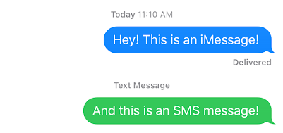 Text message to imessage