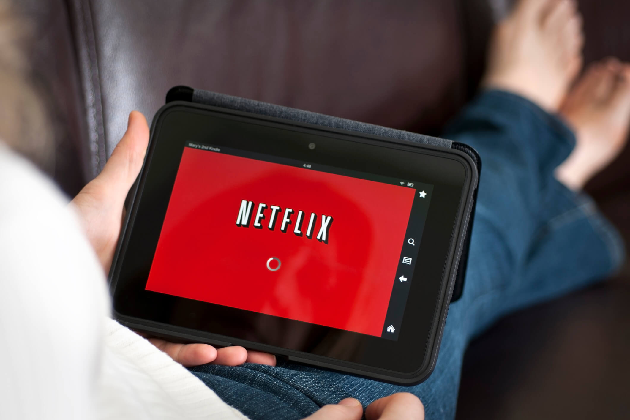 Netflix loading on a smart device