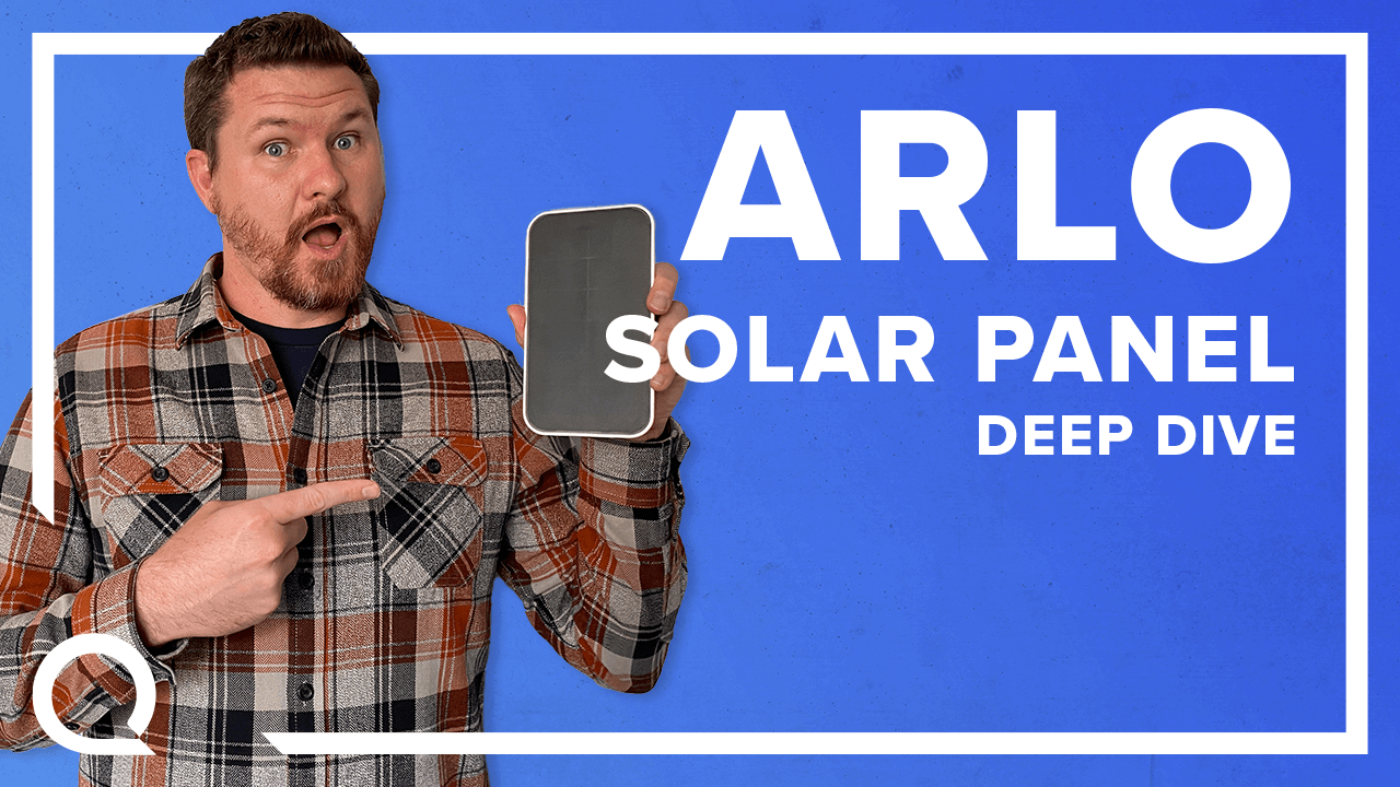 Smart home expert Steve holding the Arlo Solar Panel