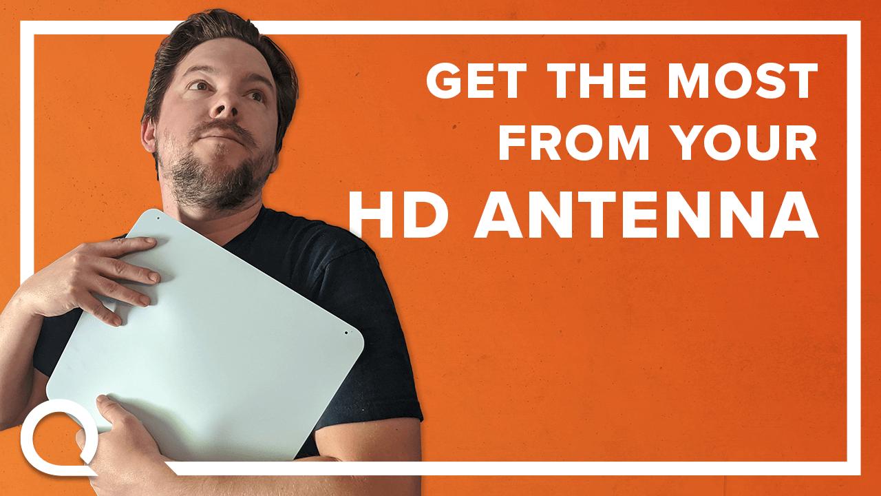 Craig Hanks holding an HD antenna