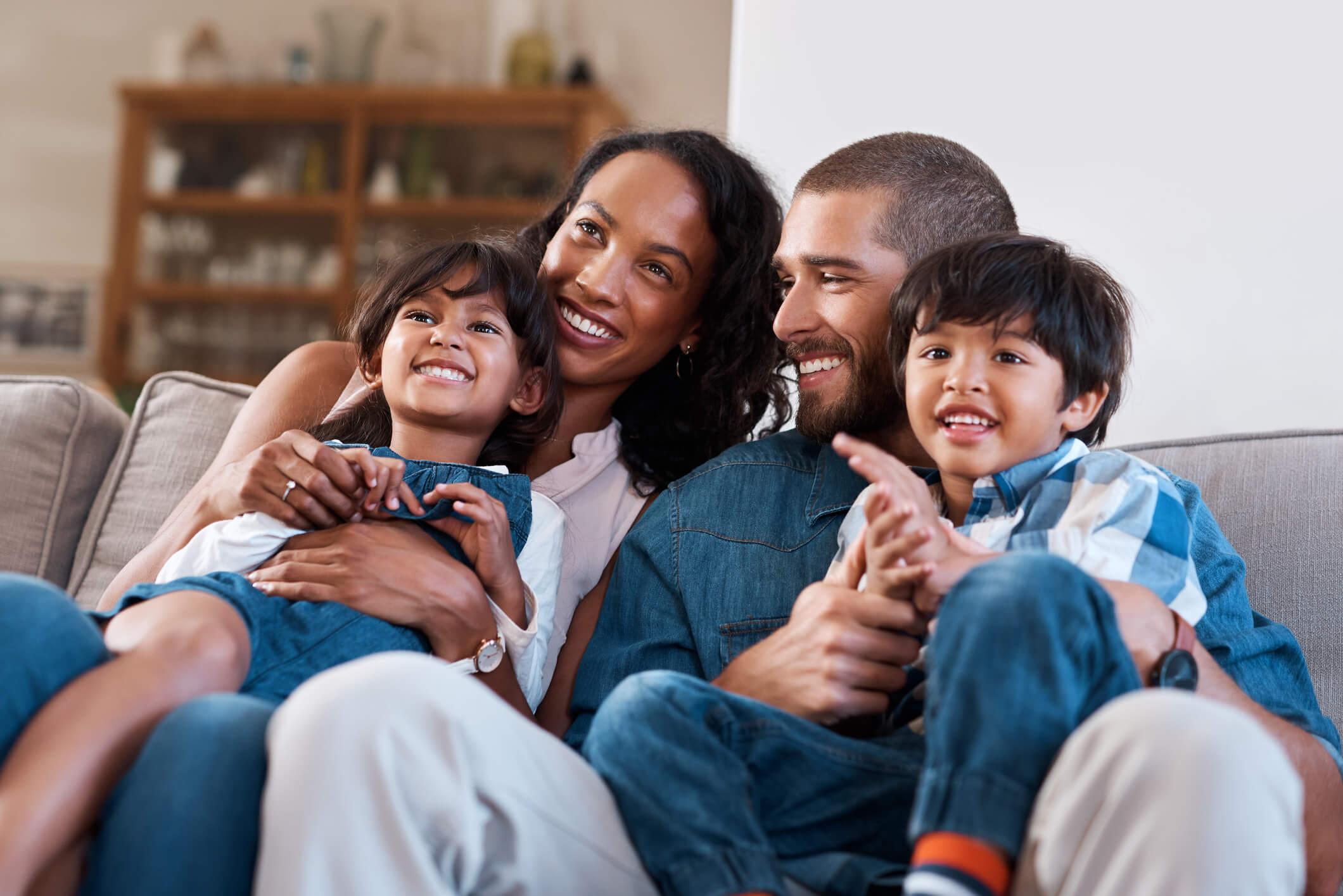Family watching Philo TV