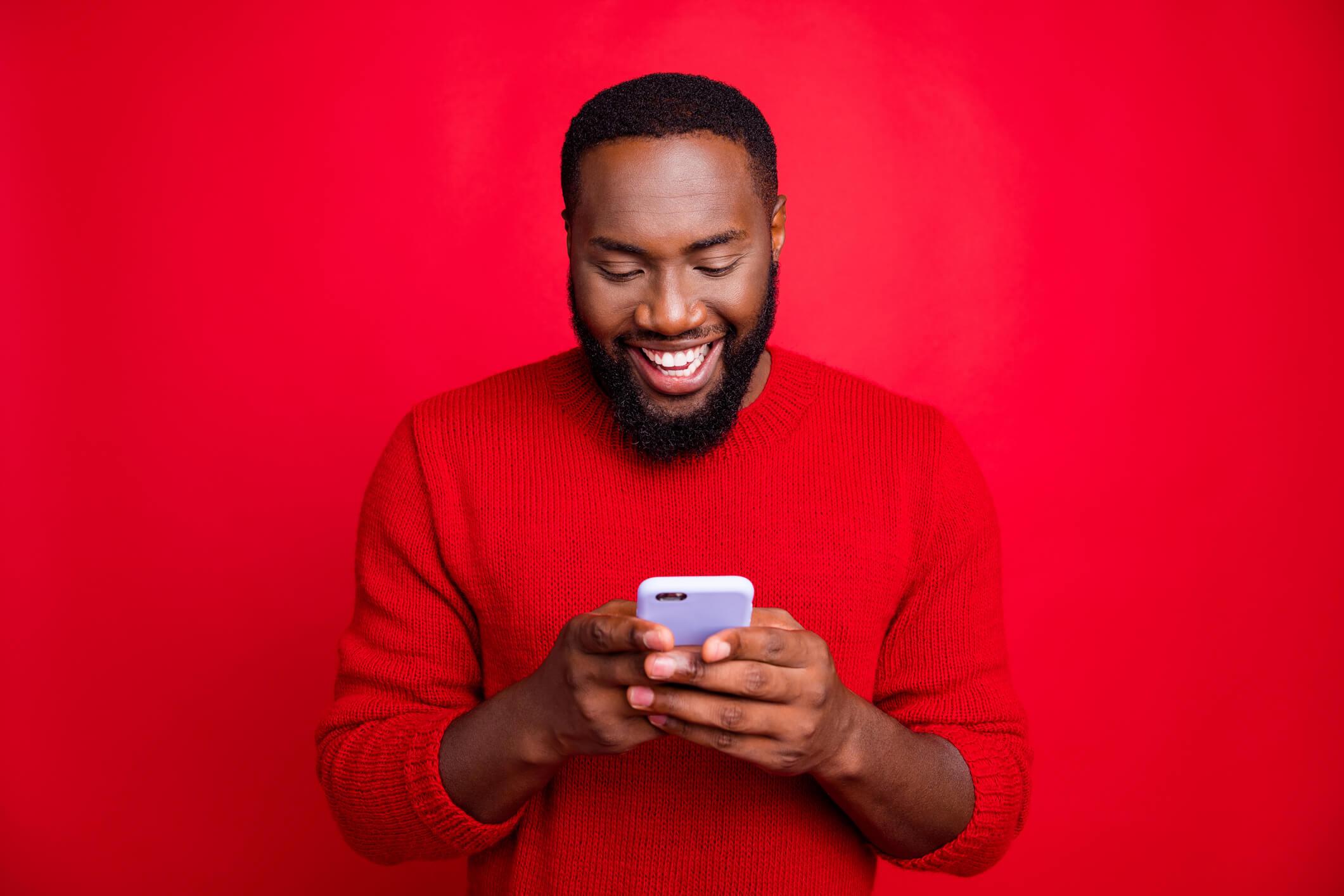 Man Using New Xfinity Phone Service