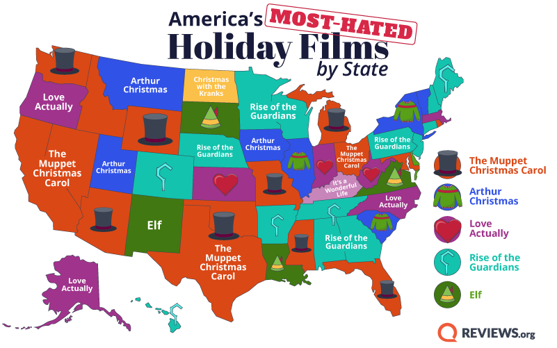 Map of America's Most-Hated Holiday Films