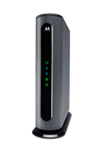 The black Motorola MB7621 modem is the best modem for most Xfinity internet users