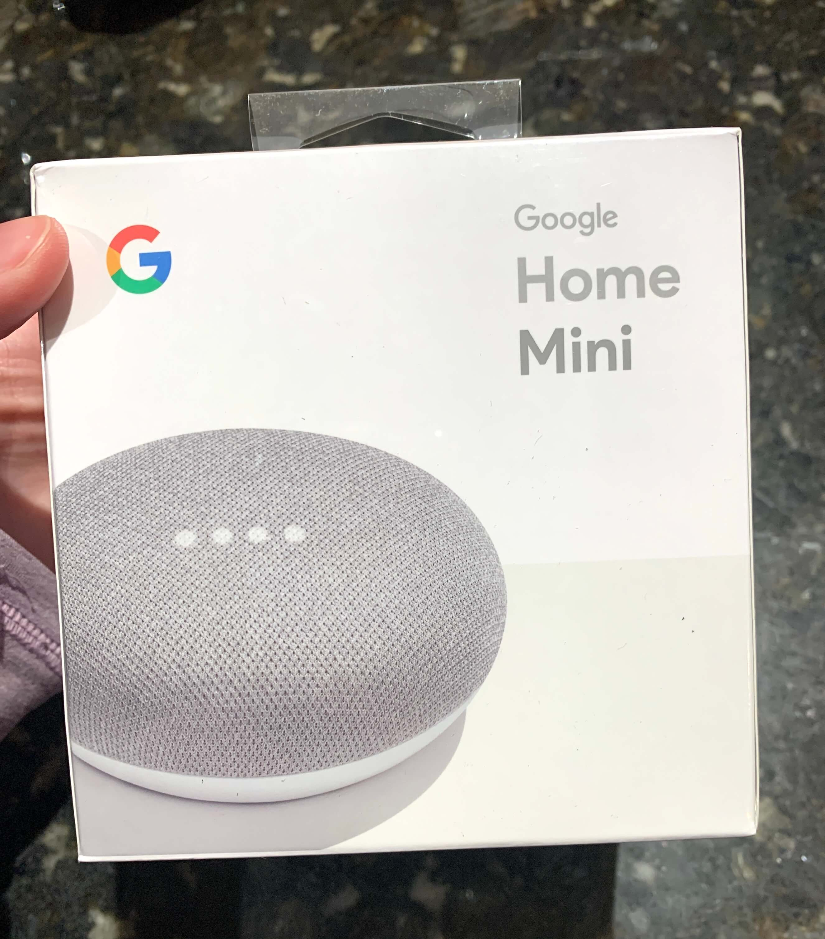 Google Home Mini box