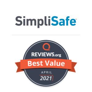 SimpliSafe Best Value award badge