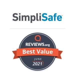 SimpliSafe Award Badge for Best Value