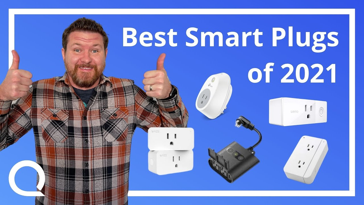 Steve giving thumbs up with various smart plugs