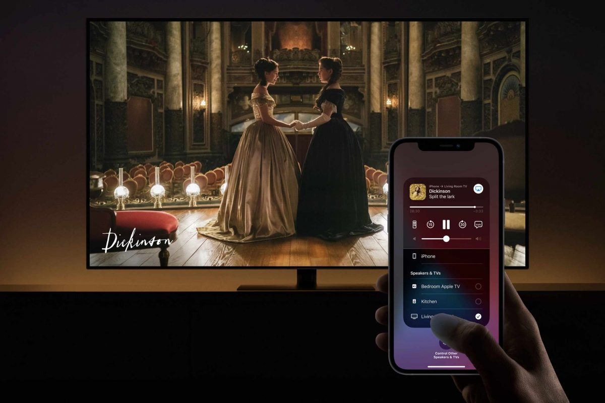 Apple AirPlay with Apple TV and iPhone