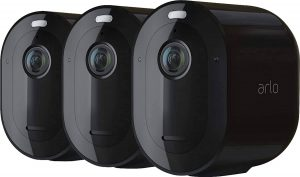 Arlo Pro 4 three pack in black